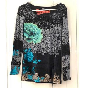 Desigual Floral Colorful Top
